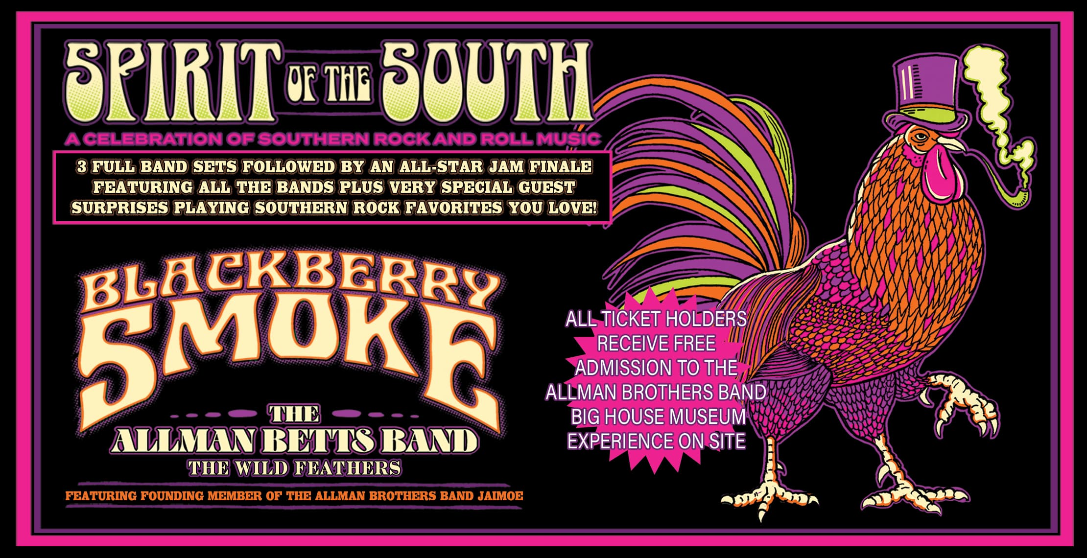 RESCHEDULED - Blackberry Smoke, The Allman Betts Band, The Wild Feathers and more