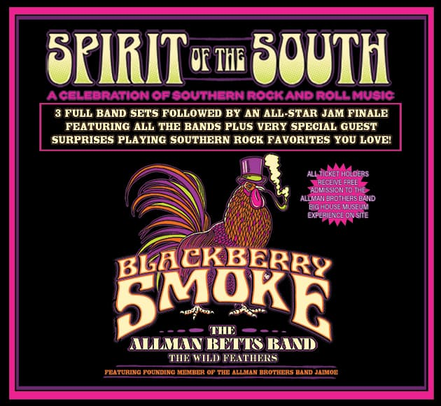 More info for Blackberry Smoke, The Allman Betts Band, The Wild Feathers and more