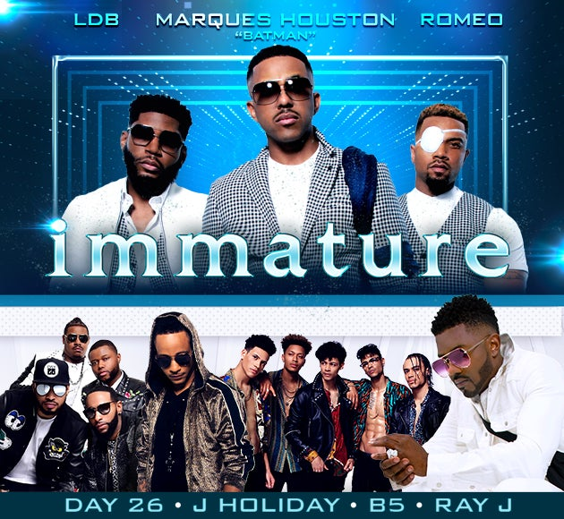 More info for #TBTour with Immature, Ray J, J Holiday, B5, and Day 26